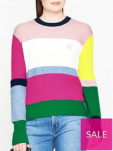 kenzo-colour-block-logo-jumper-multi