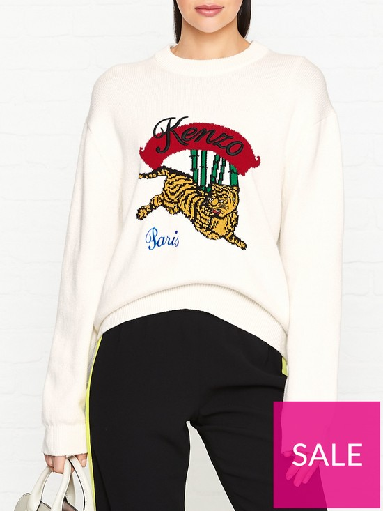 17d98d14d Kenzo Jumping Tiger Jumper - White | very.co.uk