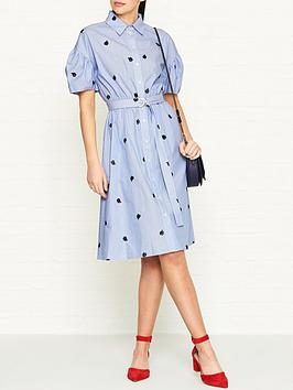 kenzo-roses-belted-cotton-shirt-dressnbsp--sky-blue