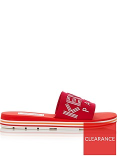 kenzo-logo-embossed-sliders-red