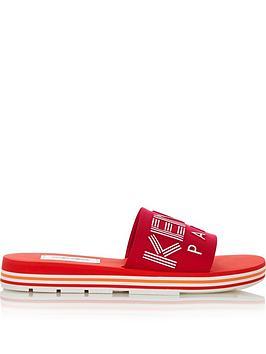 kenzo-logo-embossed-sliders-red