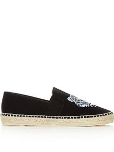 4dac74a10f05 Kenzo Tiger Head Canvas Espadrilles - Black