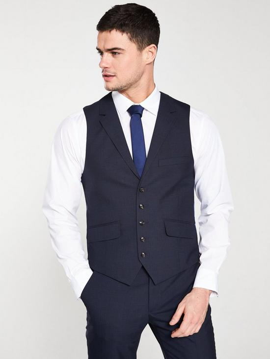 6047fb342 Ted Baker Sterling Check Waistcoat - Navy