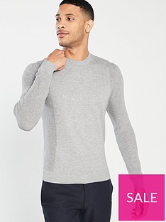 ted-baker-trullnbspcrew-neck-jumper-grey