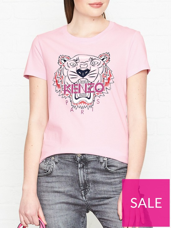 655a96a9a828 Kenzo Tiger Classic T-shirt - Pink   very.co.uk