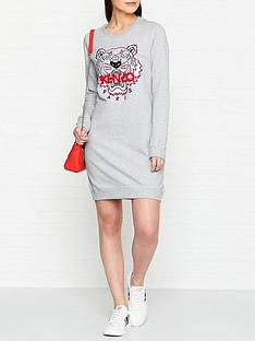 kenzo-classic-tiger-head-sweatshirt-dressnbsp--grey