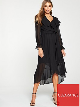 v-by-very-wrap-midi-dress-black