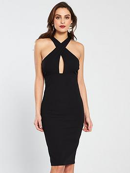 river-island-river-island-cross-front-jersey-bodycon-dress-black