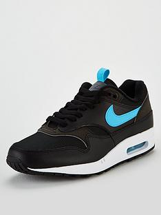 the latest 79b76 5a6d7 Nike Air Max 1 Gel - Black Blue