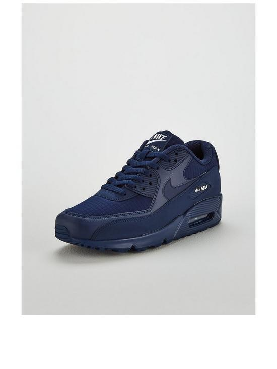 sports shoes bf379 e323a Nike Air Max 90 Essential Trainers - Navy