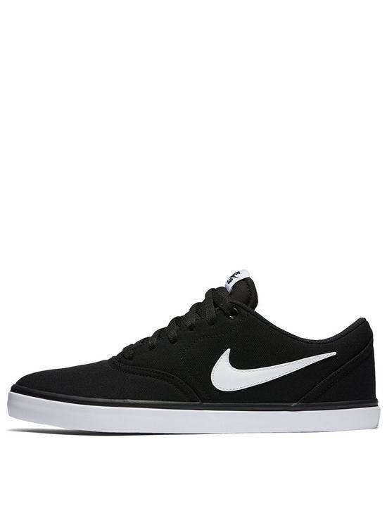 d79876e39e63 Nike SB Check Solar Canvas - Black White