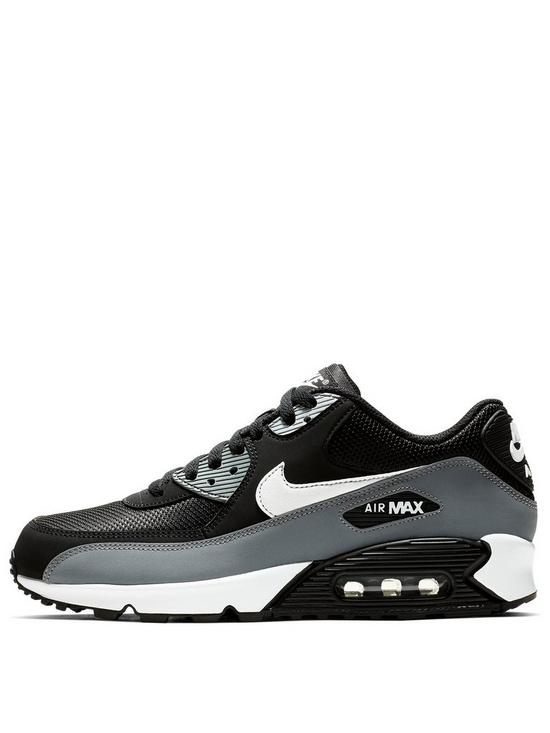 069c245689b5d Nike Air Max 90 Essential - Black/White/Grey | very.co.uk