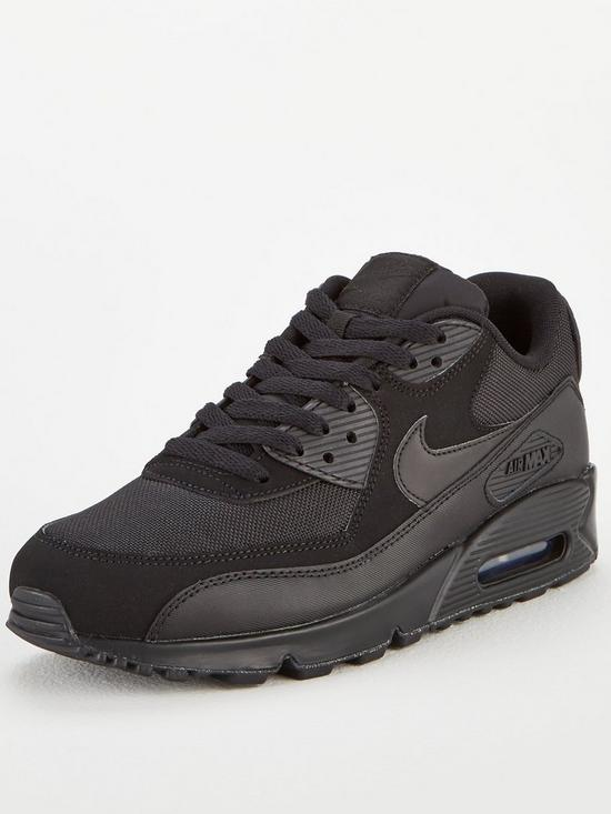 release date: 09a29 dba80 Nike Air Max 90 Essential - Black   very.co.uk