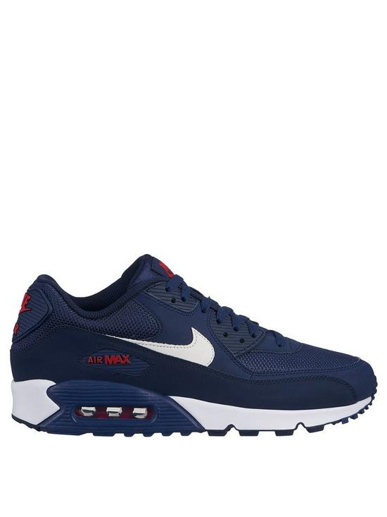hot sale online cf05e 7de4c Nike Air Max 90 Essential - Navy/White/Red | very.co.uk