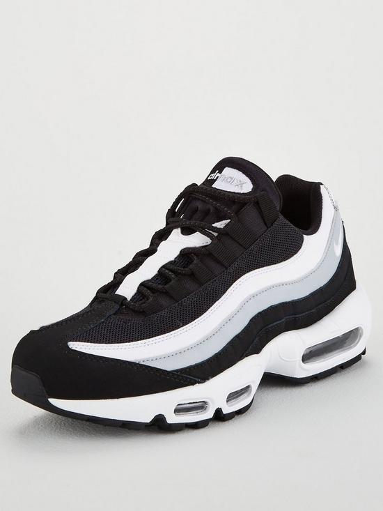 huge discount 570f4 d4b3a Nike Air Max 95 Essential Trainers - Black White