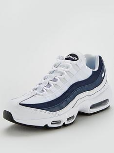 hot sale online 91e8c 73e3a Nike Air Max 95 Essential - White Navy