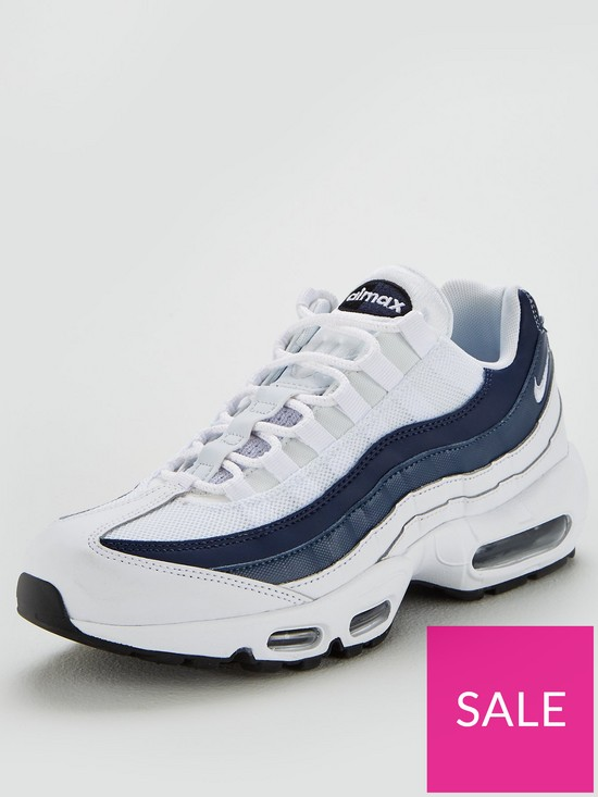 18af6995be Nike Air Max 95 Essential - White/Navy | very.co.uk