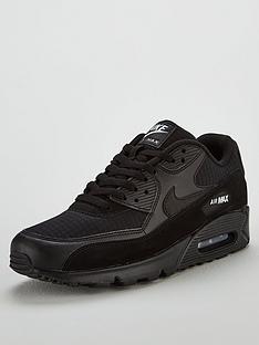 4de887a59b4 Nike Air Max 90 Essential Trainers - Black
