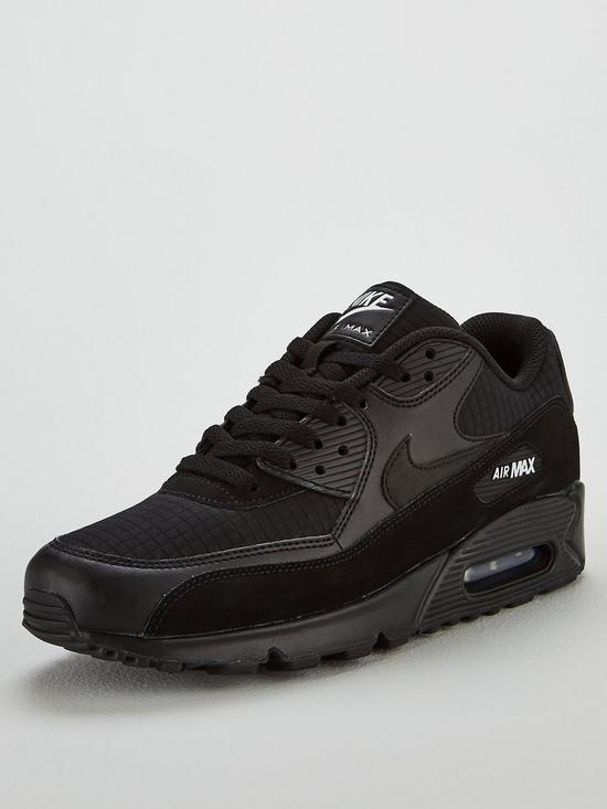 brand new cb54e df24e Nike Air Max 90 Essential Trainers - Black