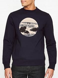 ps-paul-smith-beach-print-sweatshirt-navy