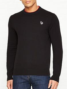 ps-paul-smith-knitted-cotton-jumper-with-zebra-logo-black