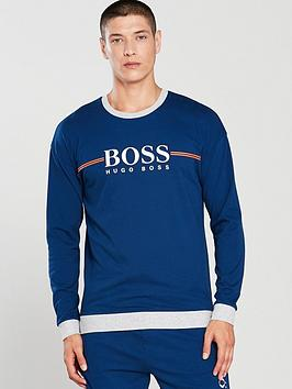 boss-authentic-crew-lounge-top-blue