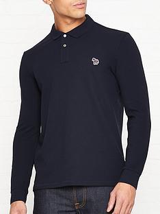 ps-paul-smith-zebra-logo-long-sleeve-pique-polo-shirtnbsp--navy