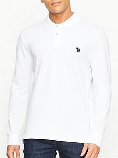 ps-paul-smith-long-sleeve-pique-polo-shirt-with-zebra-logo-white