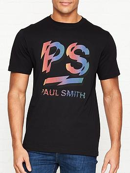ps-paul-smith-rainbownbsplogo-print-t-shirt-black
