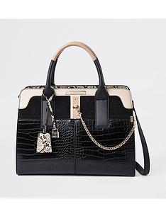 river-island-river-island-croc-mix-detail-tote-bag-black