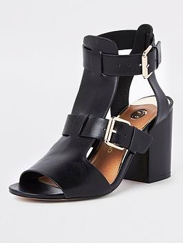 river-island-river-island-wide-fit-double-buckle-shoe-boots-black