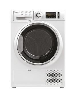Hotpoint Activecare Ntm1182Xb 8Kg Load Heat Pump Tumble Dryer - White