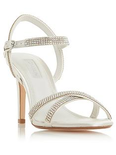 74c11793765 Dune London Bridal Magikal Bejewelled Heeled Sandal Shoes - Ivory