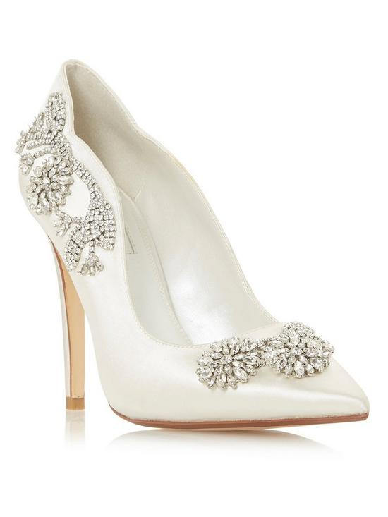e79b10b7342be7 Dune London Bridal Bestowedd Bejewelled Heeled Shoes - Ivory