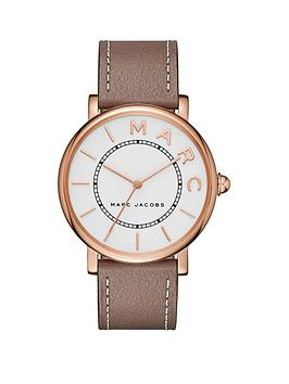 marc-jacobs-marc-jacobs-classic-white-and-rose-gold-dial-brown-leather-strap-ladies-watch