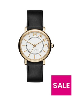 marc-jacobs-marc-jacobs-classic-white-and-gold-dial-black-leather-strap-ladies-watch