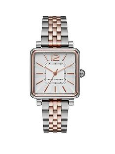marc-jacobs-marc-jacobs-vic-silver-and-rose-gold-square-dial-two-tone-stainless-steel-bracelet-ladies-watch