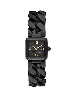 marc-jacobs-marc-jacobs-vic-black-square-dial-black-stainless-steel-chain-link-bracelet-ladies-cocktail-watch