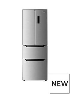 Swan SR15650 60cmWide French Door Side By Side Fridge Freezer - Inox