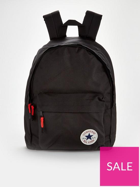 1e8b89a1f58 Converse Backpack - Black   very.co.uk