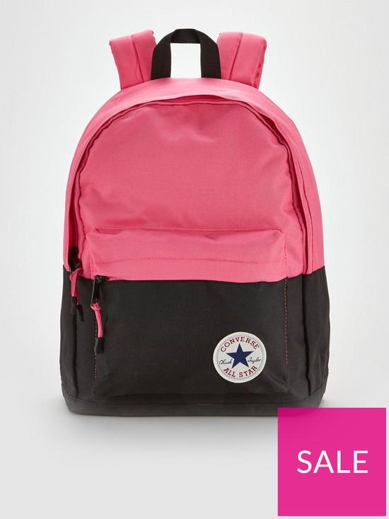 7b3ba196b8 Converse Colourblock Backpack - Pink/Black   very.co.uk