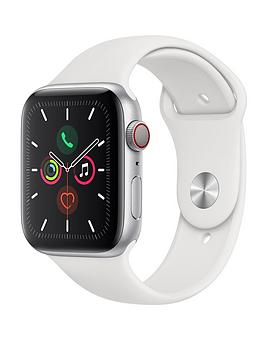 Apple Watch Series 5 (Gps + Cellular), 44Mm Silver Aluminium Case With White Sport Band