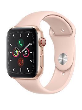 Apple Watch Series 5 (Gps + Cellular), 44Mm Gold Aluminium Case With Pink Sand Sport Band