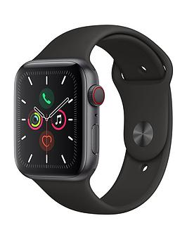 Apple Watch Series 5 (Gps + Cellular), 44Mm Space Grey Aluminium Case With Black Sport Band