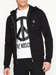 love-moschino-gold-peace-sign-zip-throughnbsphoodie-black