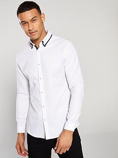 river-island-ls-double-collar-slim-fit-shirt