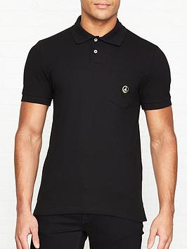 love-moschino-gold-peace-sign-logo-pique-slim-fit-polo-shirt-black