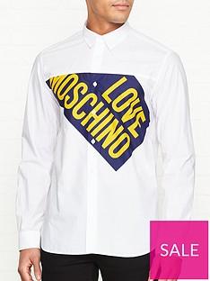 love-moschino-cut-off-flag-print-shirt-white