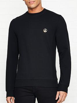love-moschino-gold-peace-sign-slim-fit-sweatshirt-black