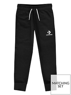 cef0908fc767 Converse Boys Stacked Wordmark Joggers - Black